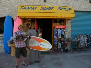 Trading Circle One surfboards for hats in Morocco!