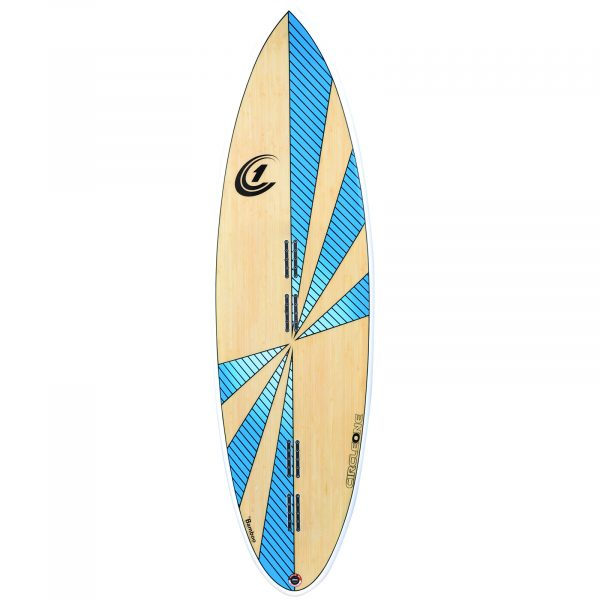 5ft 8inch Bamboo Round Pin Tail Kiteboard