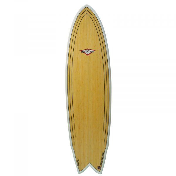 An image of the 6 ft 4 inch bamboo deck.