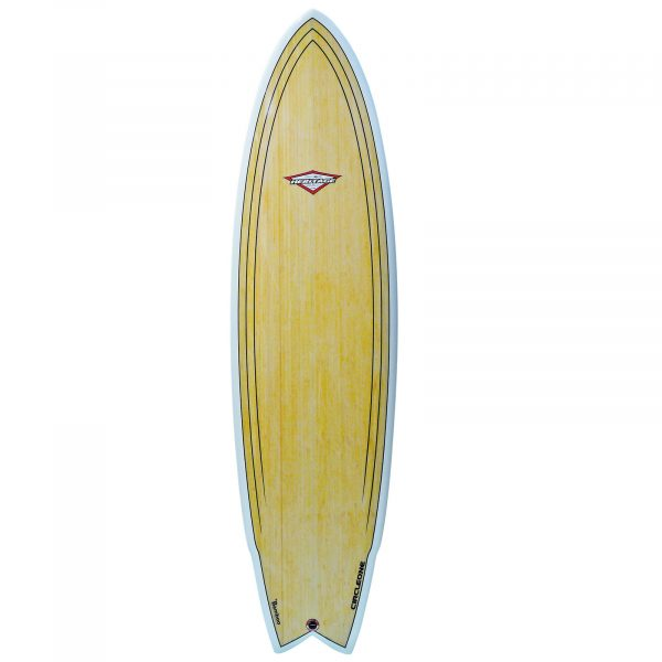 "6' 8"" BAMBOO Wing Swallow Tail Shortboard Surfboard"
