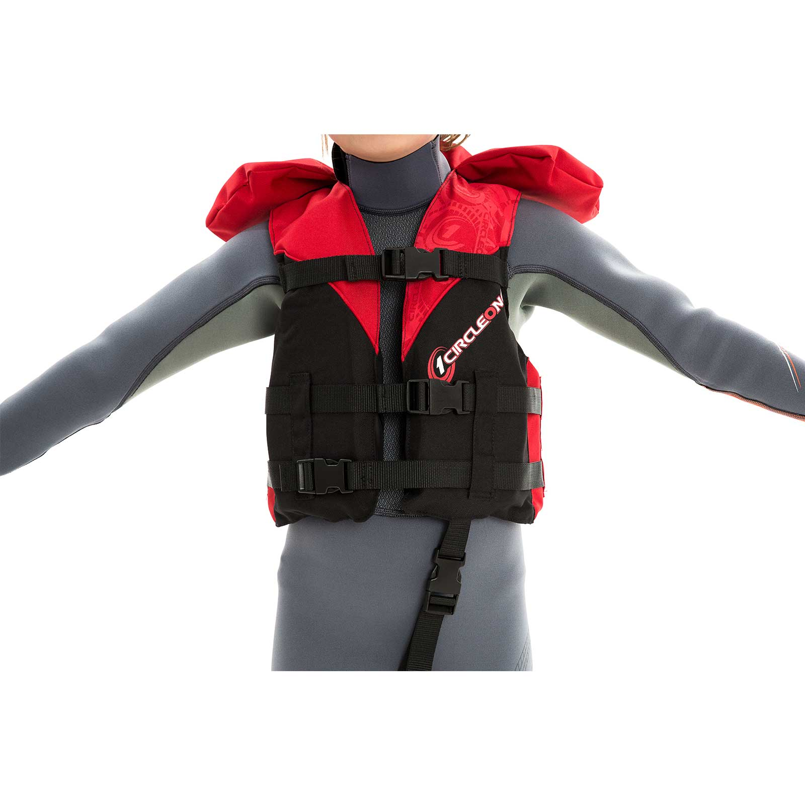 40N Child Buoyancy Aid PFD with 3 Straps + Collar (one size)