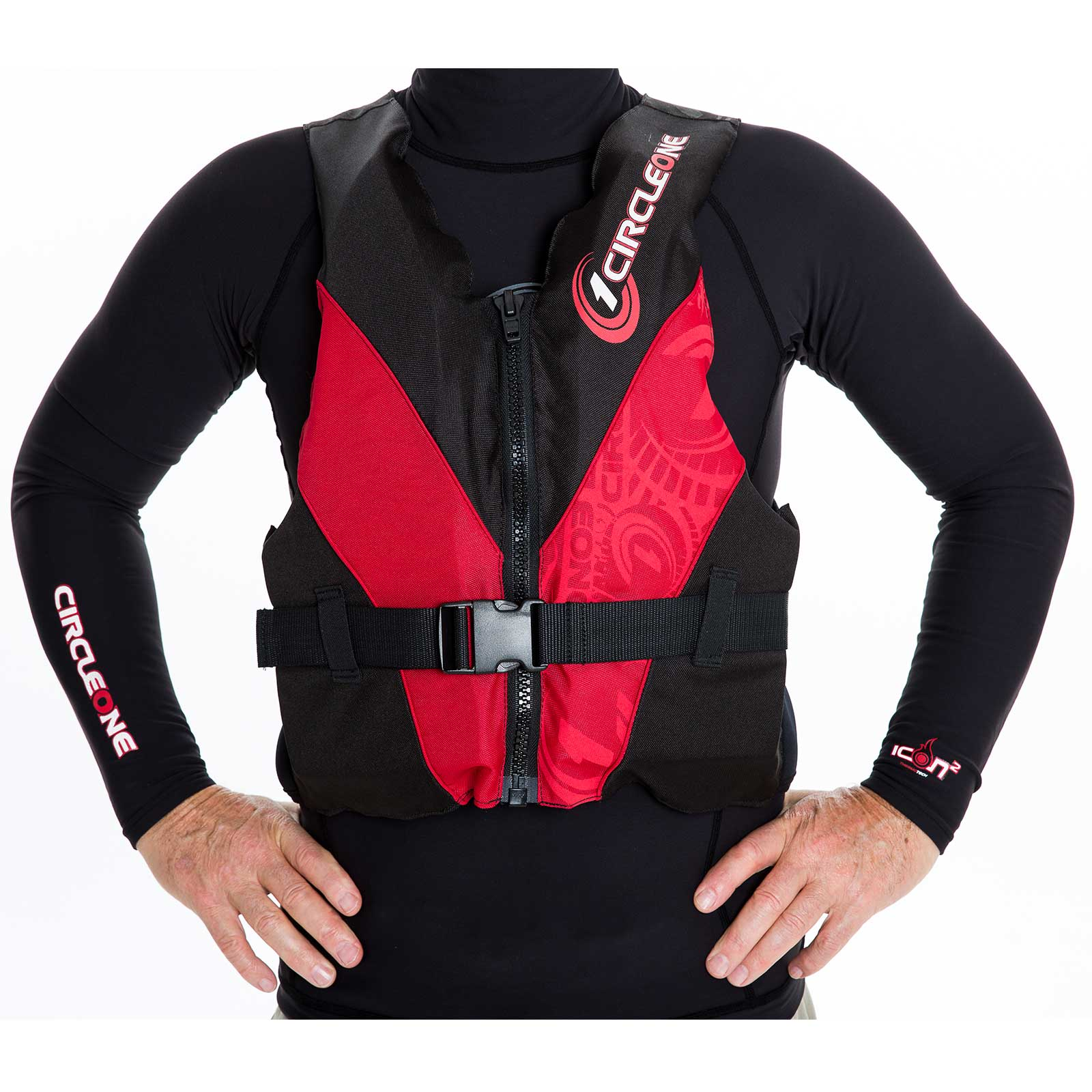50N Adult Buoyancy Aid PFD with Front Zip and Chest Strap (CE EN393)