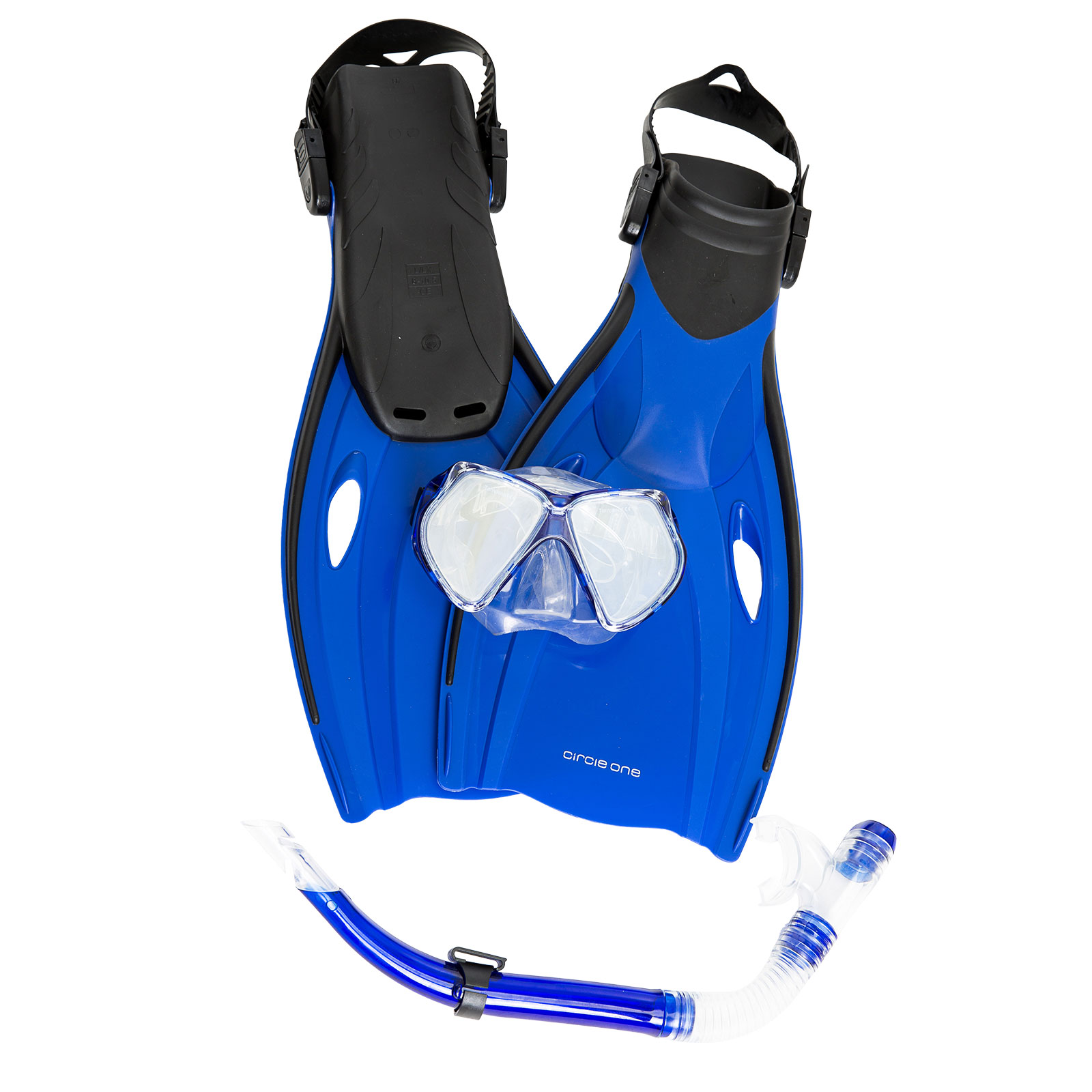 Circle One ADULT Mask Snorkel and Fins Set