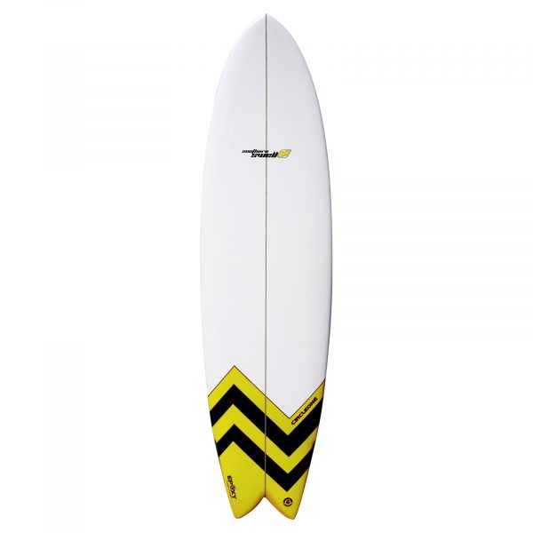 An image of the Southern Swells Surfboard which has been reinforced for strength and agility.