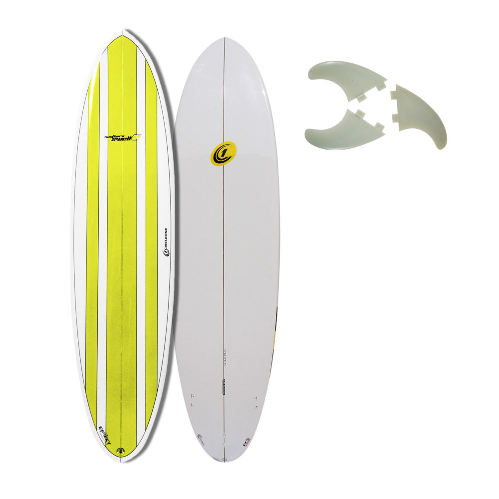 7ft 6inch Circle One Southern Swell Series Round Tail Mini Mal Surfboard - Gloss Finish