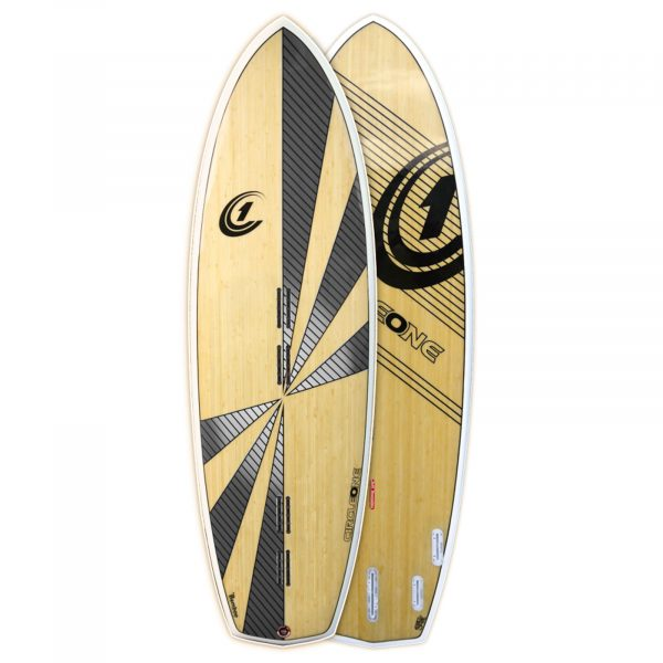 5ft 10inch Bamboo Diamond Tail 5 Fin Kiteboard