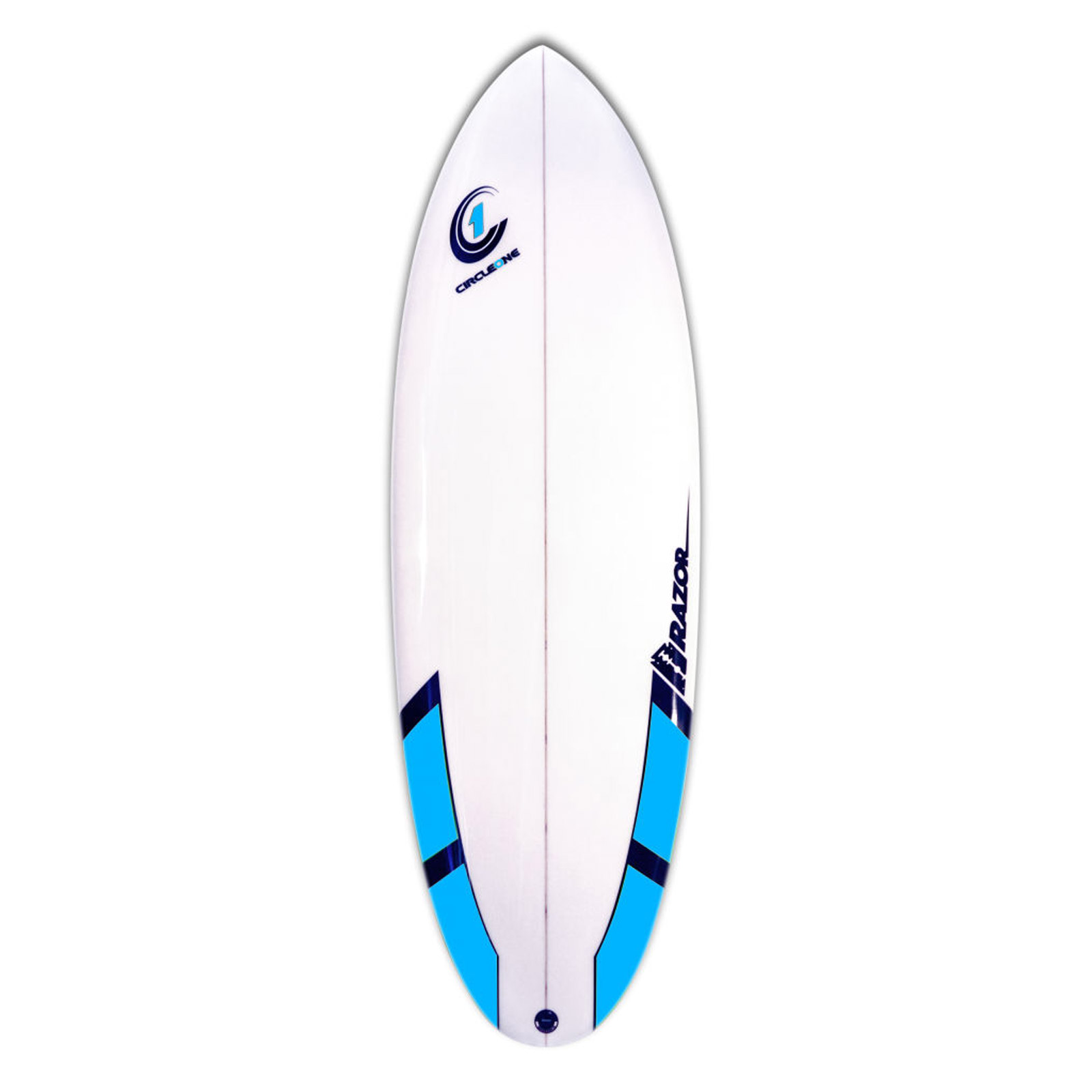 5ft 8inch Razor Surfboard - Round Tail Shortboard - Gloss Finish