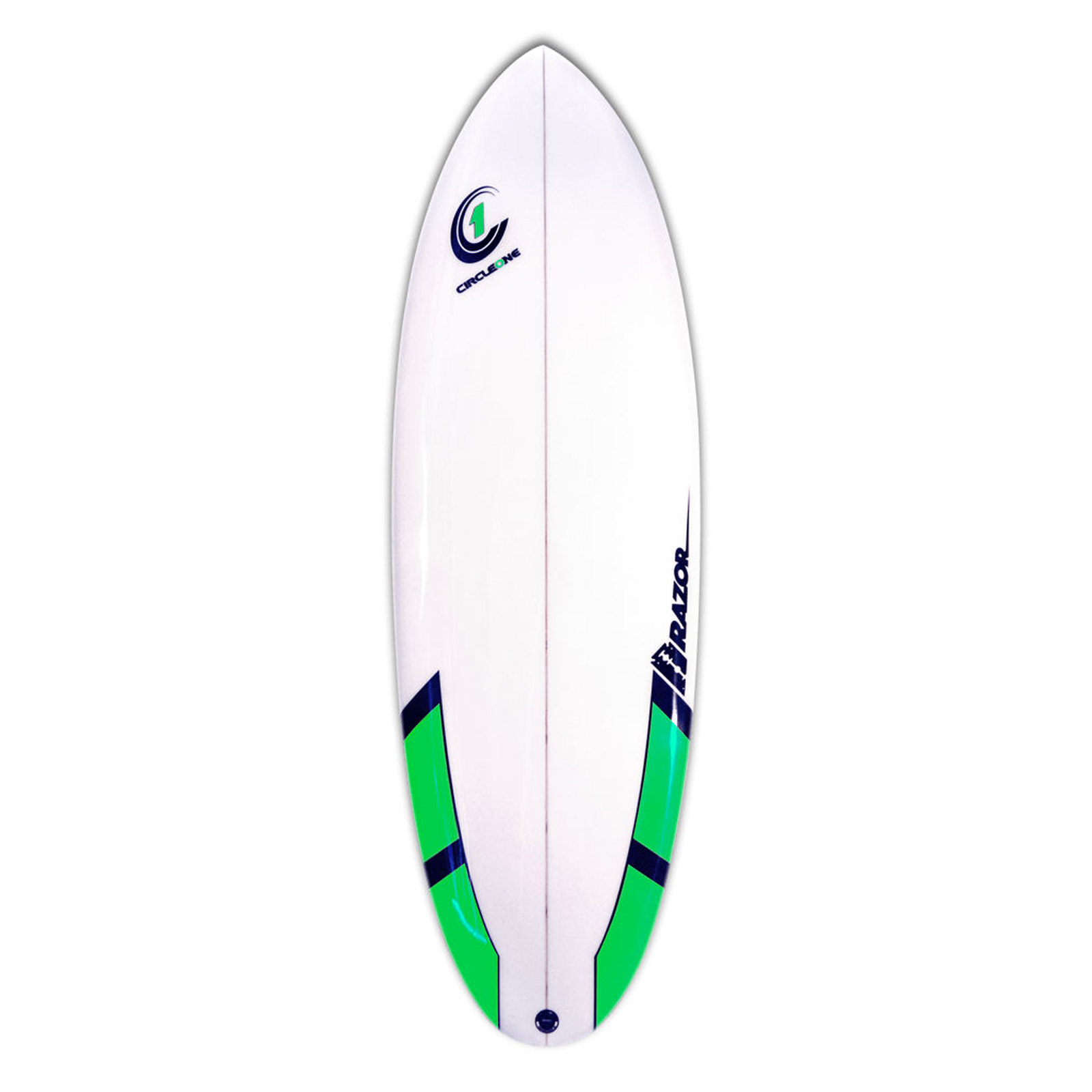 5ft 8inch Razor Surfboard - Round Tail Shortboard - Matt Finish