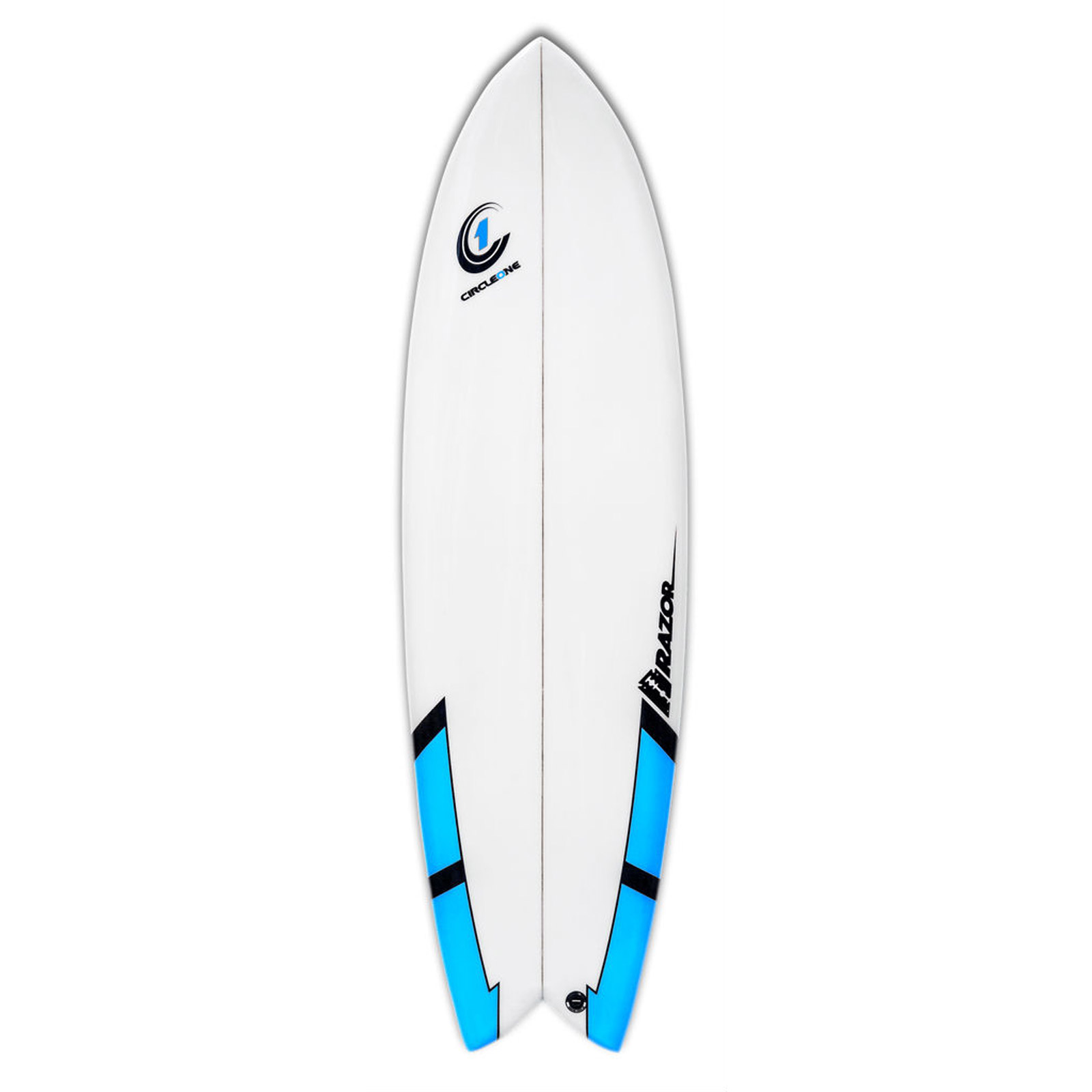 6ft 3inch Razor Surfboard - Fish Tail Shortboard - Matt Finish