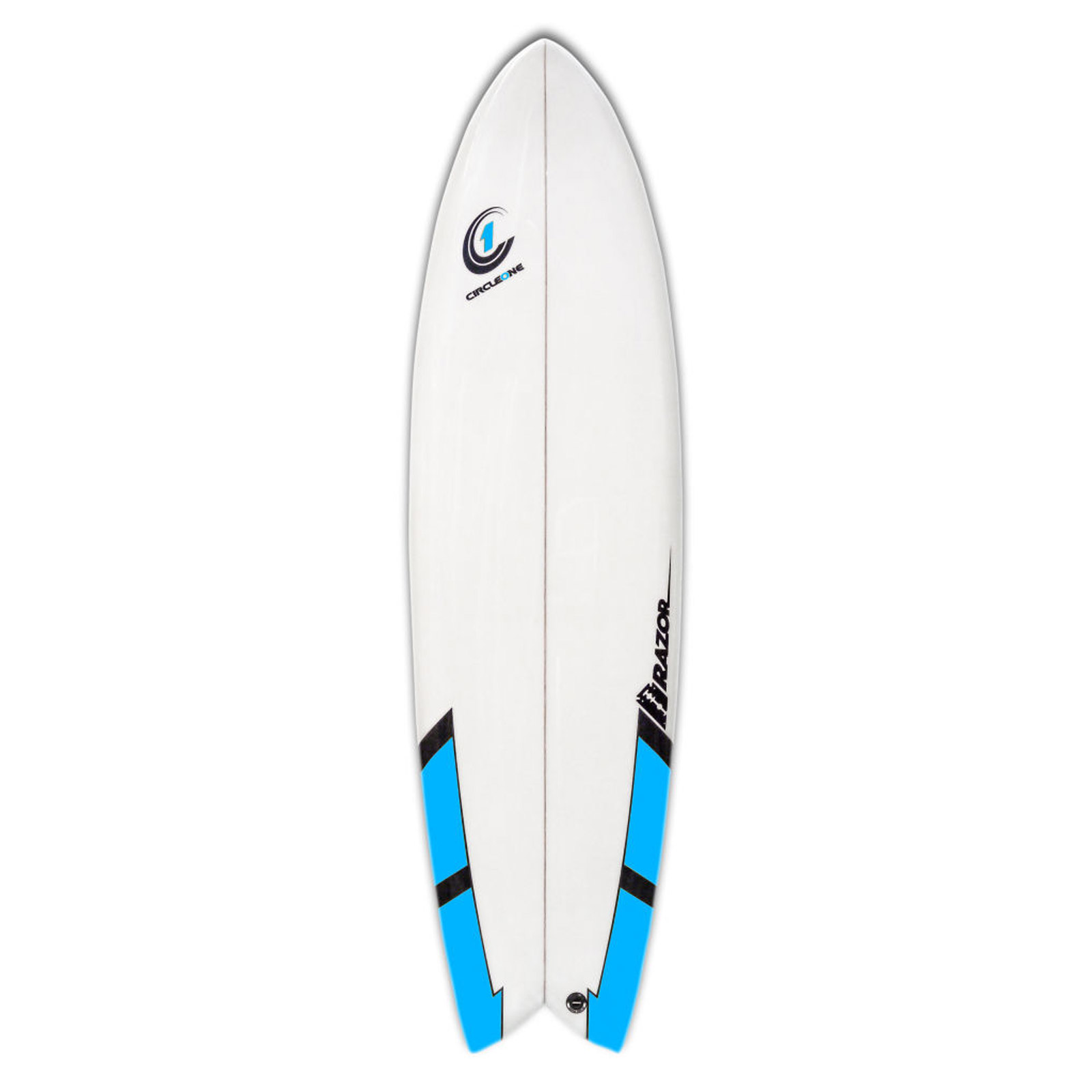 6ft 6inch Razor Surfboard - Fish Tail Shortboard - Matt Finish