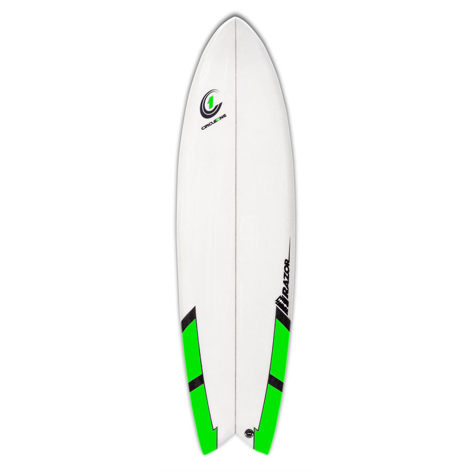 6ft 6inch Razor Surfboard - Fish Tail Shortboard - Gloss Finish