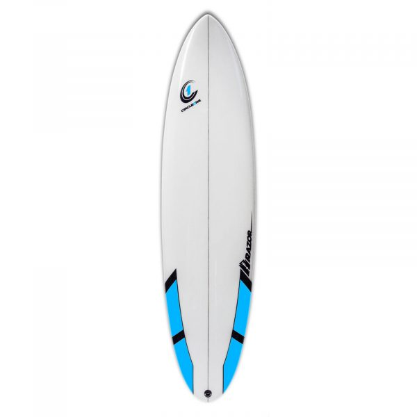 7ft 2inch Razor Surfboard - Round Tail Funboard - Gloss Finish