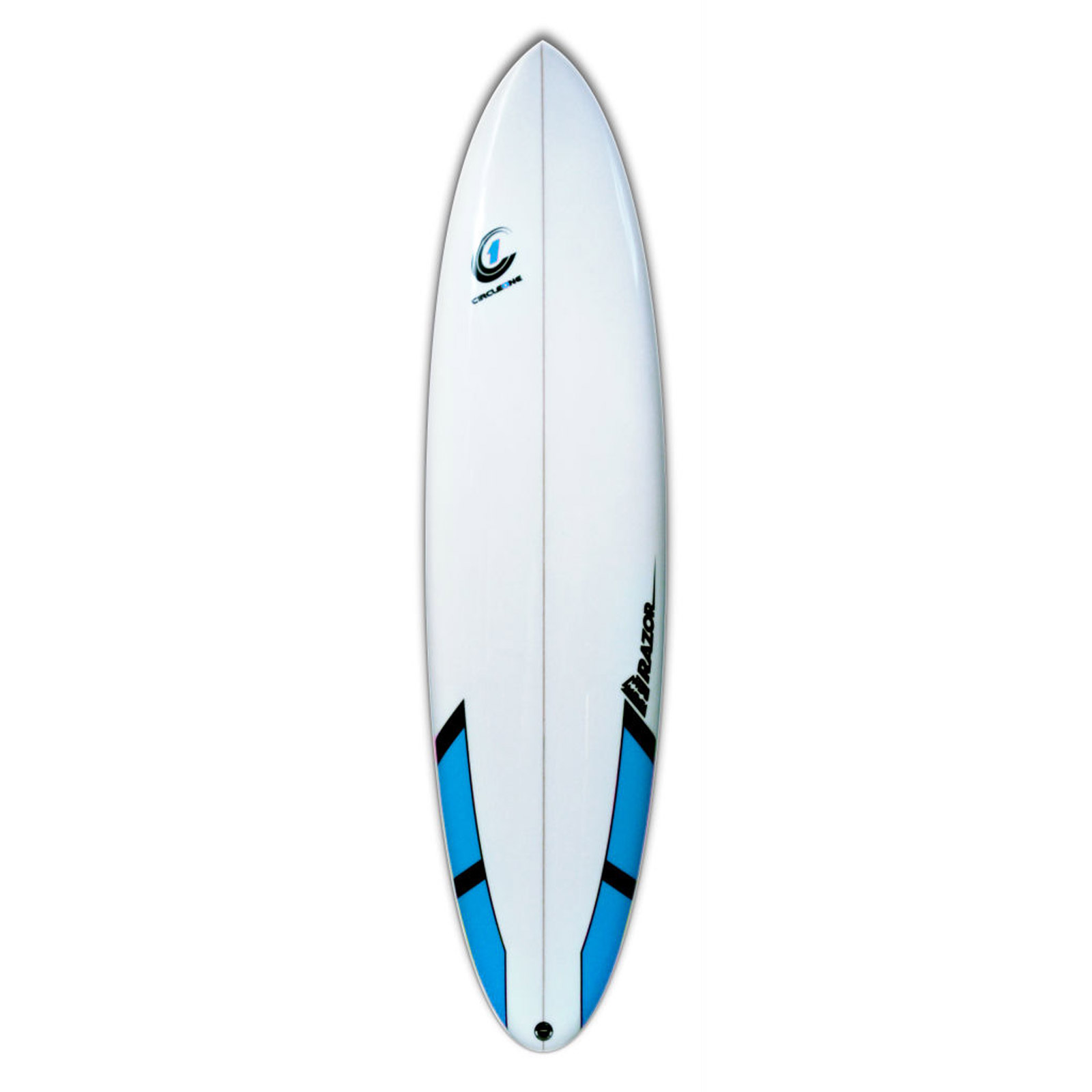 7ft 6inch Razor Mini Mal Surfboard - Round Tail - Matt Finish