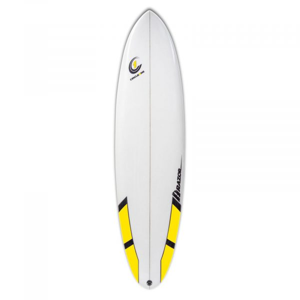7ft Razor Surfboard with Round Tail - Gloss Finish