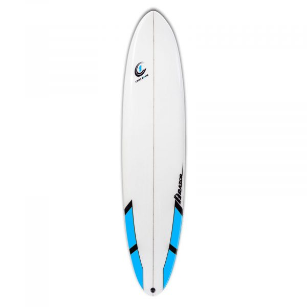 8ft Razor Mini Mal Surfboard with Round Tail. Gloss Finish