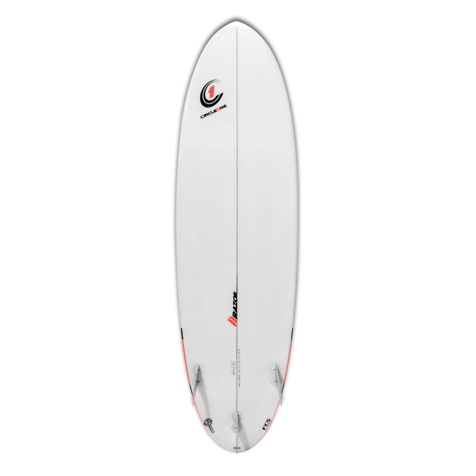 6ft 6inch Razor Surfboard - Round Tail Shortboard - Gloss Finish