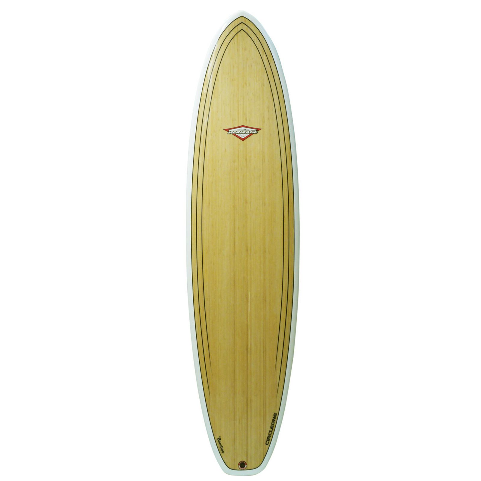 An image of the 7ft 3inch bamboo surfboard deck. 4828cf727