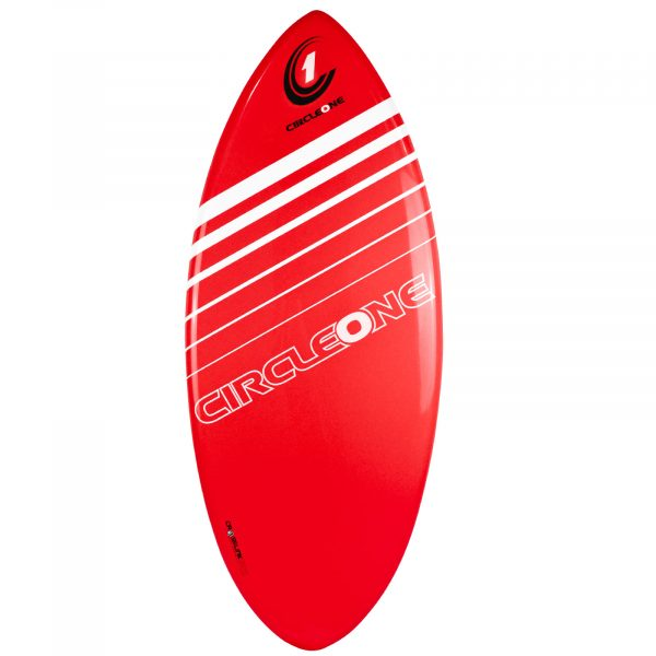 An image of the Circle One Epoxy Skimboard in Red.