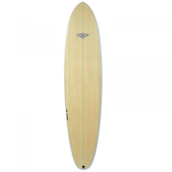 "7' 10"" BAMBOO Round Tail Mini Mal Surfboard (Silver Graphic)"