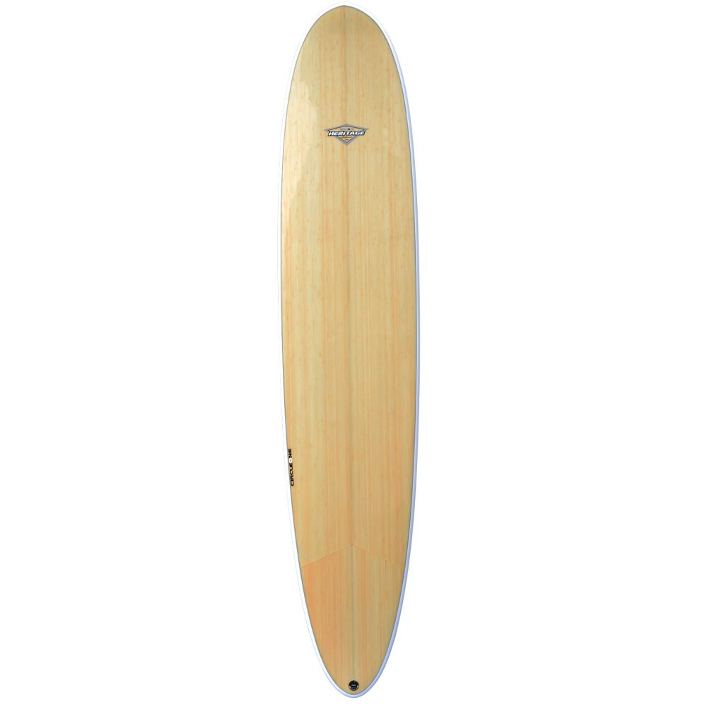 "9' 2"" BAMBOO Round Pin Longboard (Silver Graphic)"