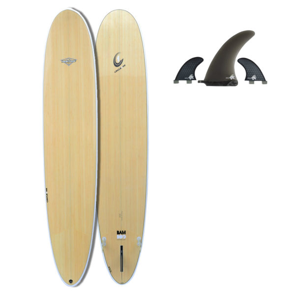 "9' 6"" BAMBOO Round Pin Longboard (Silver Graphic)"