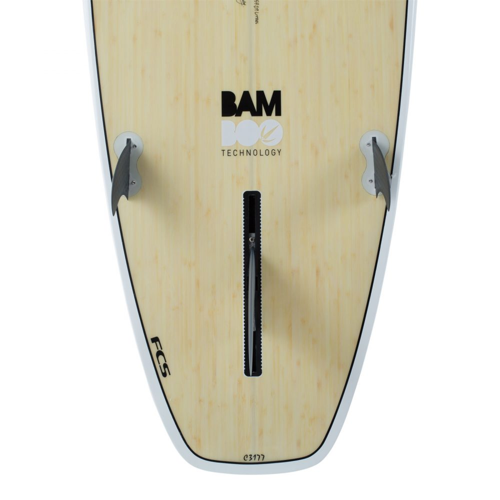 "8' 2"" BAMBOO Squash Tail Mini Mal Surfboard (Silver Graphic)"