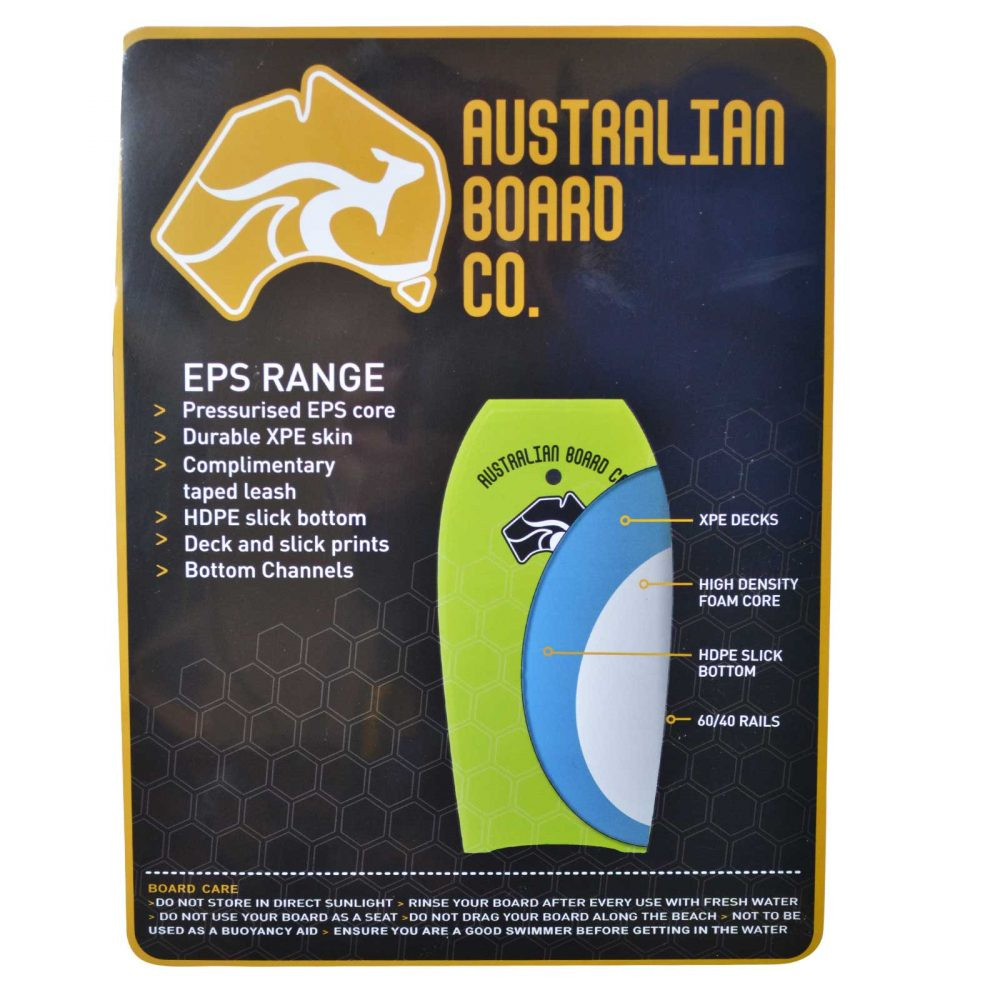 33inch Pulse Series EPS Bodyboard by Australian Board Company (ABC)