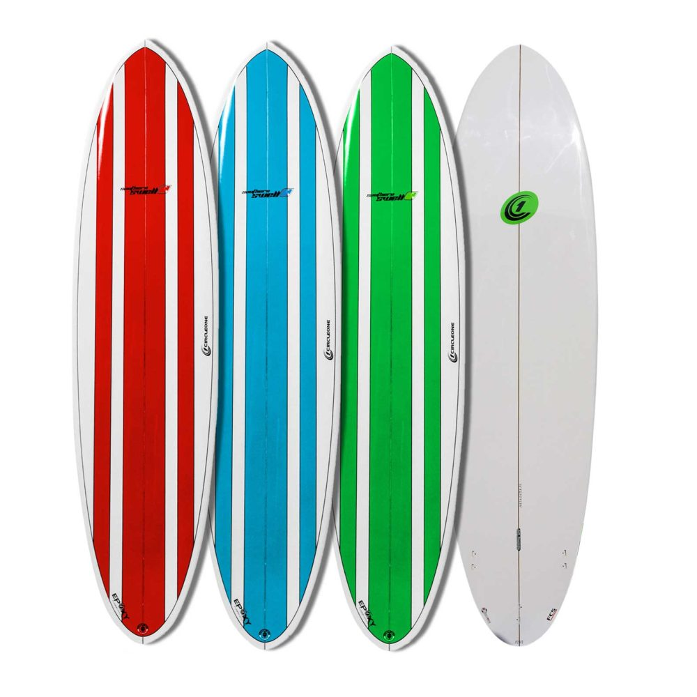 7ft 2inch Circle One Southern Swell Series Round Squash Tail Funboard Surfboard - Gloss Finish