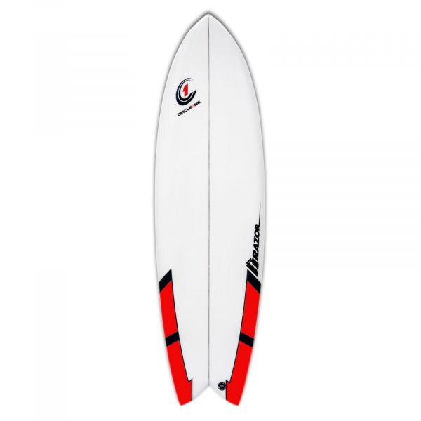 6ft 3inch Razor Surfboard - Fish Tail Shortboard - Gloss Finish