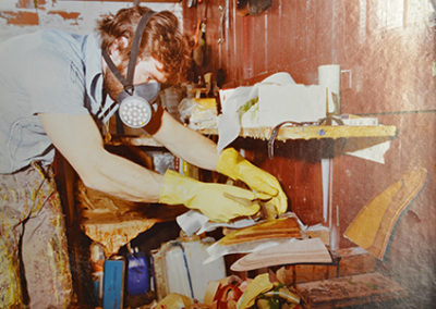 Jeff Laminating Wooden Fin 1970s