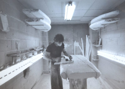 Cutting a Blank in the Shaping Room 1970s