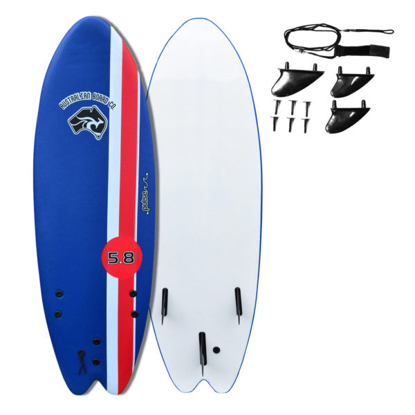 "5' 8"" Australian Board Co Pulse Soft Learner Surfboard"
