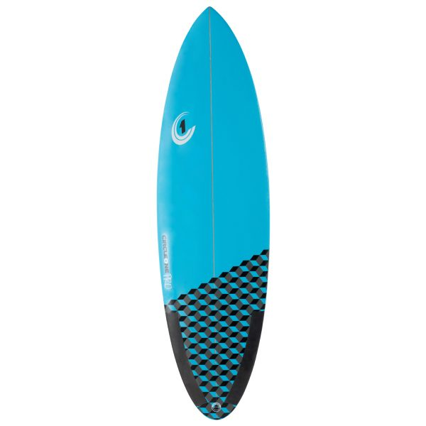 5ft 10inch Pro Carbon Surfboard - Round Tail Shortboard - Gloss Finish