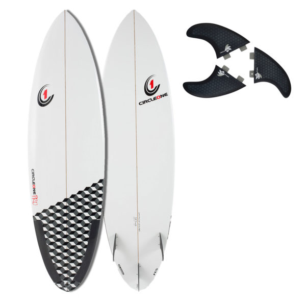 6ft Pro Carbon Surfboard - Round Tail Shortboard - Gloss Finish