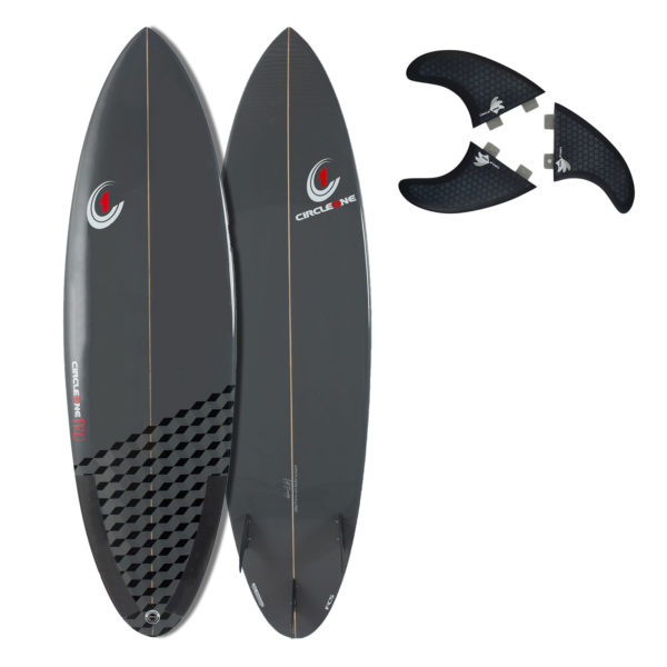 6ft 3inch Pro Carbon Surfboard - Round Tail Shortboard - Gloss Finish