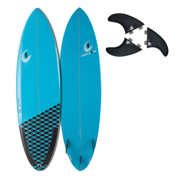 6ft 6inch Pro Carbon Surfboard - Round Tail Shortboard - Gloss Finish