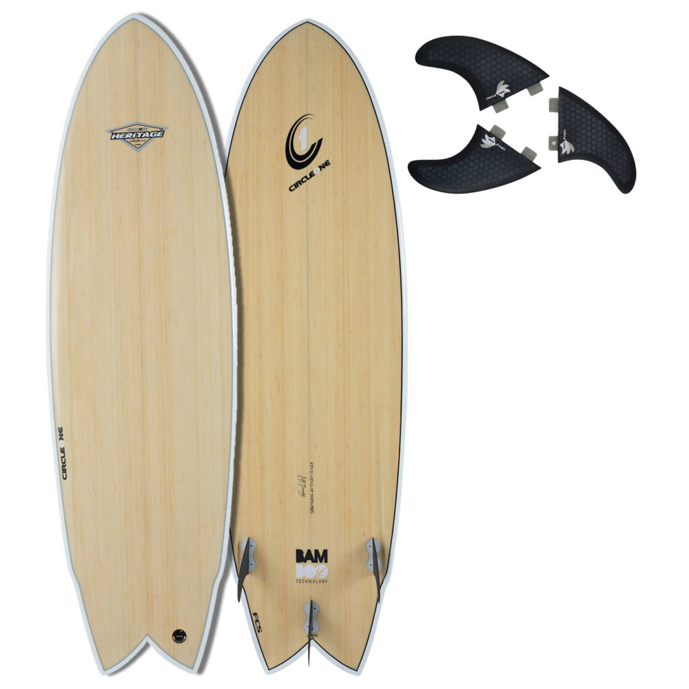 """6' 2"""" BAMBOO Wing Swallow Tail Shortboard Surfboard"""