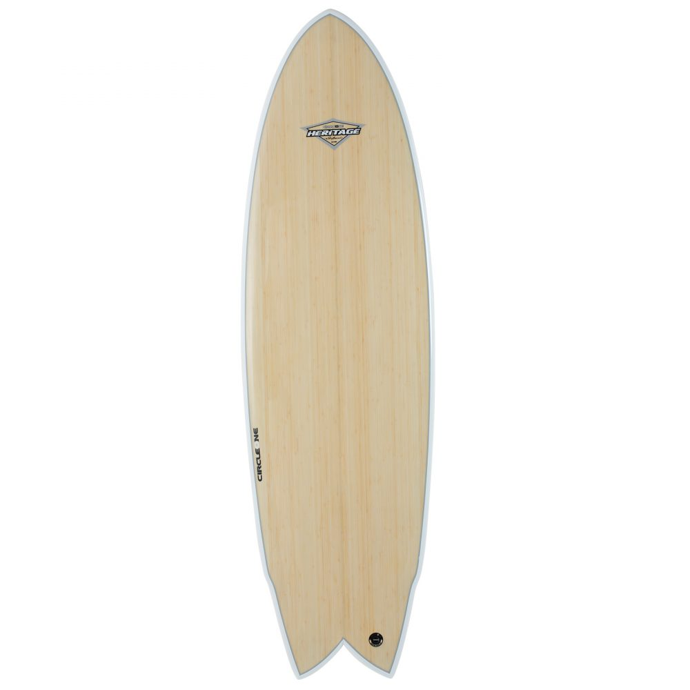 "6' 2"" BAMBOO Wing Swallow Tail Shortboard Surfboard"