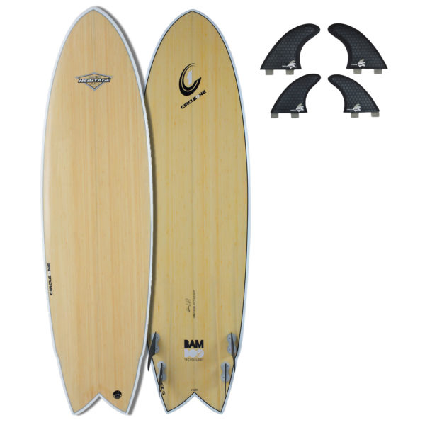 "6' 4"" Bamboo Wing Swallow Quad Fin Shortboard Surfboard (Silver Graphic)"