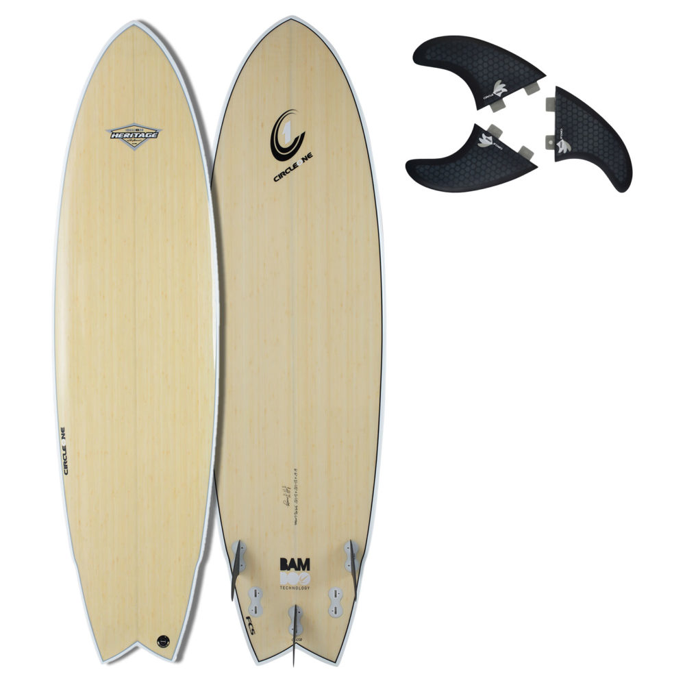 "6' 6"" BAMBOO Wing Swallow Tail Surfboard 5 Fins (Silver Graphic)"