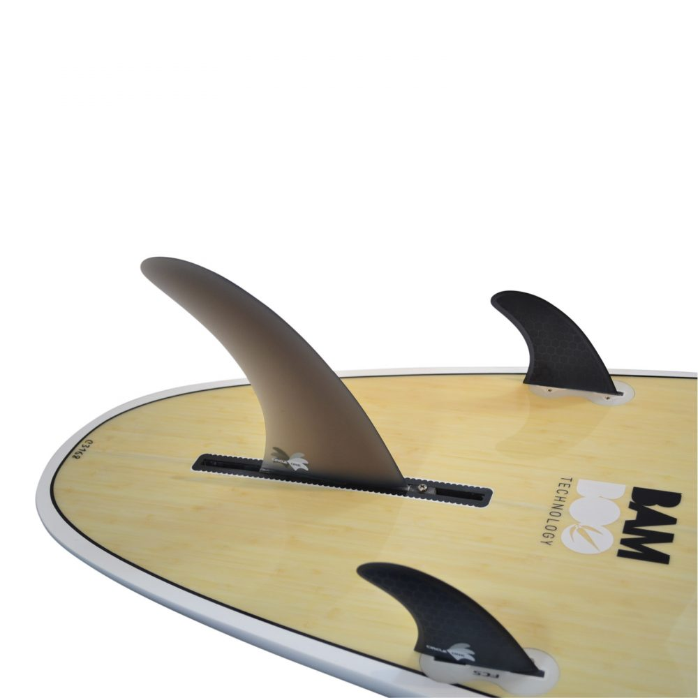 Smokey Fibreglass 6inch Centre Fin + 2 Honeycomb side fins (FCS compatible)