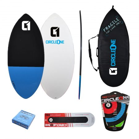 46inch Epoxy+Fibreglass EPS Skimboard Package – Bag, Wax, Tailpad & Archbar Included