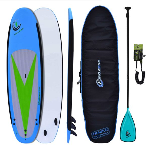 10′ 4″ Soft-Top Stand Up Paddle Board Package - Bag, Leash & Paddle Included