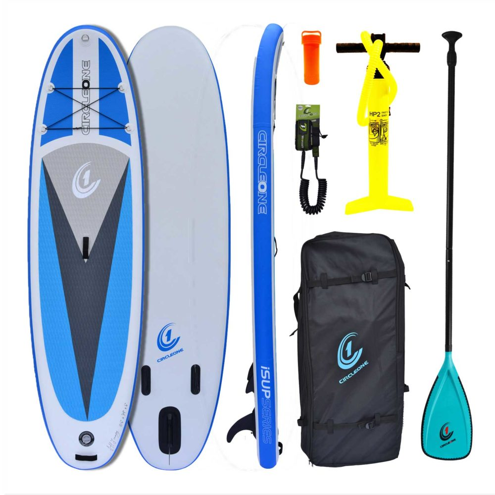 """10' 6"""" Inflatable SUP Stand Up Paddle Board Package - Bag, Leash & Paddle Included"""