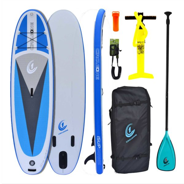 "Circle One 10' 6"" Double Layer Inflatable Paddle Board SUP 2020 Package - Bag, Leash & Paddle Included"