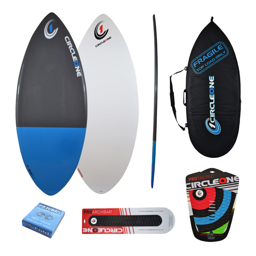 54inch Epoxy+Fibreglass EPS Skimboard Package – Bag, Wax, Tailpad & Archbar Included