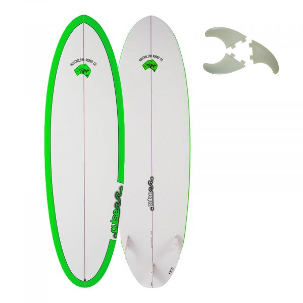 5ft 11inch 2019 Pulse Round Tail Shortboard Surfboard by Australian Board Company - Epoxy Matt Finish