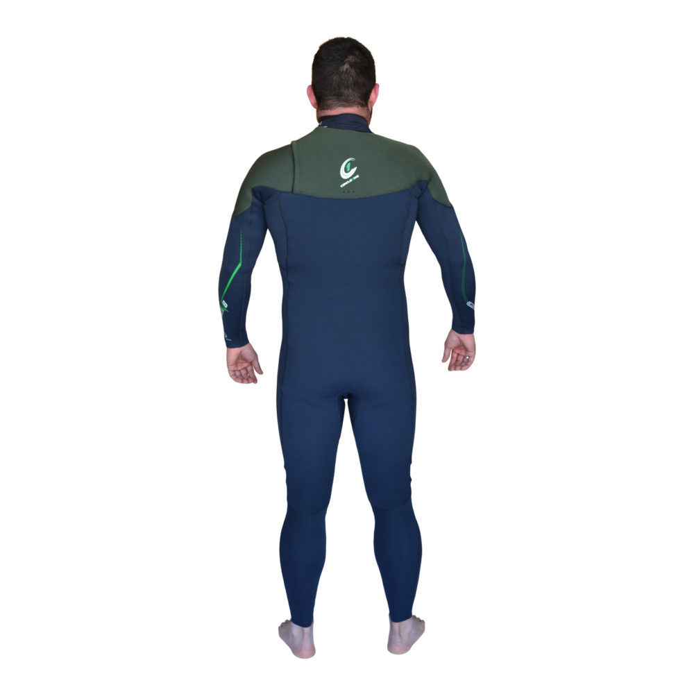 H2O PRO Mens 3/2mm Flatlock + GBS Triathlon Swim Wetsuit