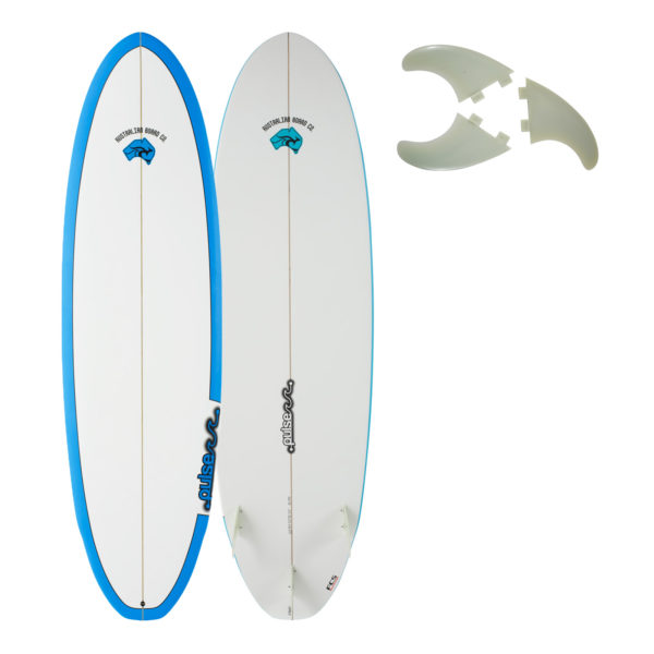 7ft 2019 Pulse Series Wing Round Tail Surfboard by Australian Board Company - Epoxy Matt Finish
