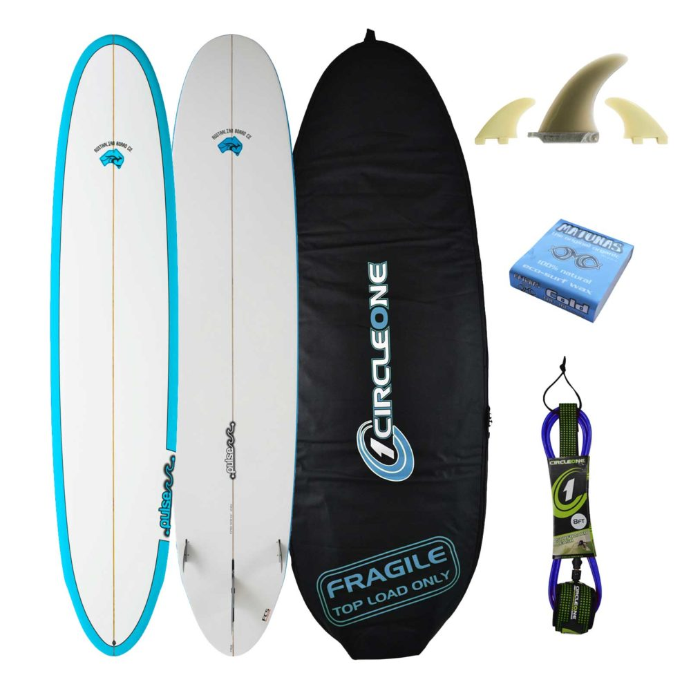 5ft 11inch 2019 Pulse Round Tail Shortboard Surfboard by Australian Board Company Package - Includes Bag, Fins & Leash